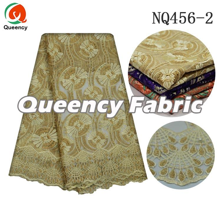 Gold Beaded Lace Netting