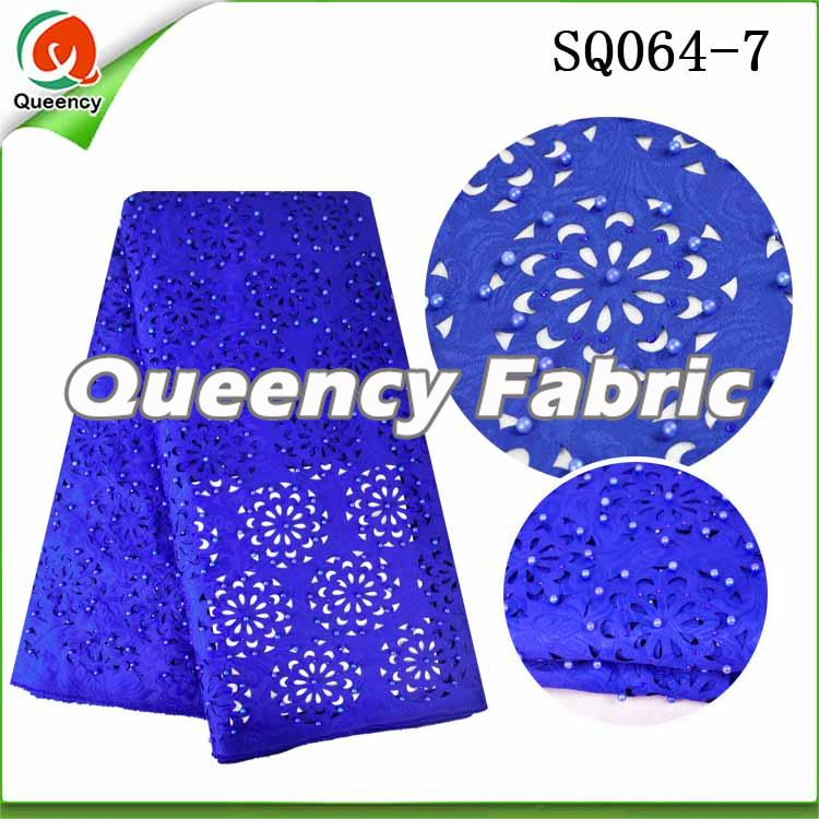 Royal Blue Laser Fabric Lace
