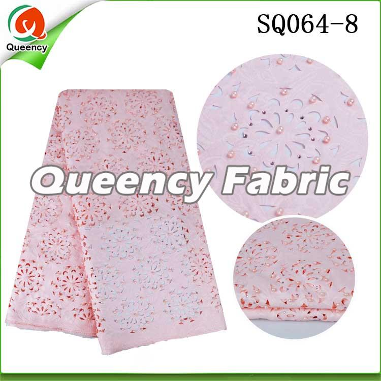 Laser Lace Material In Pink