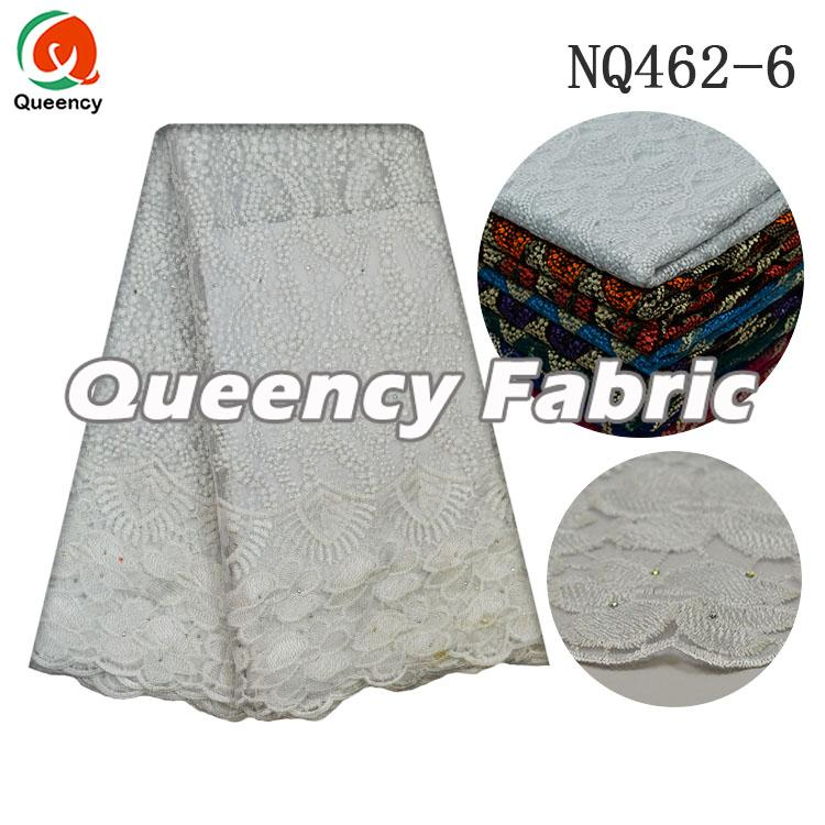 French Embroidery Stones Lace In White
