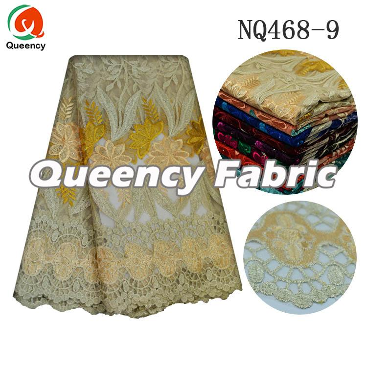 Yellow Netting French Material