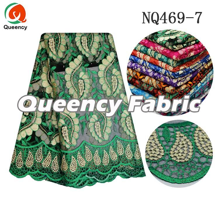 Green Lace African French Style