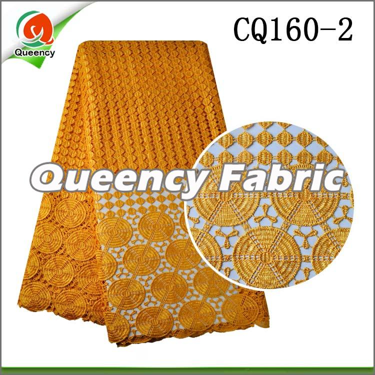 Gold Water Soluble Lace Fabric