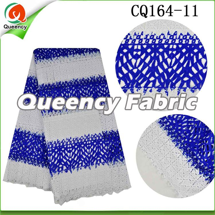 Royal BLue Guipure Fabric