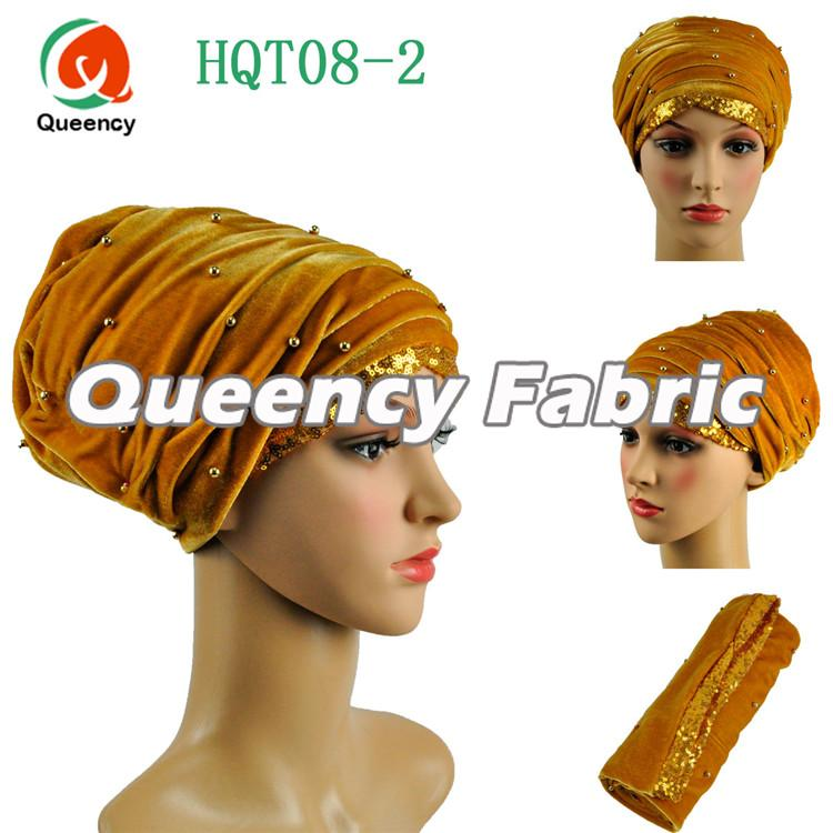 Gold Turbans Beaded Head Wrap