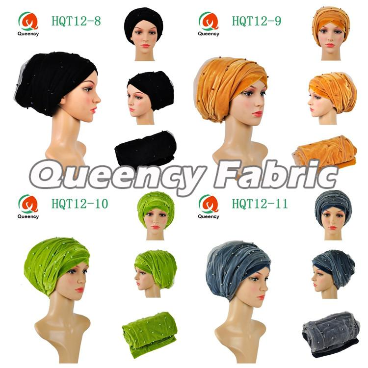Nigeria Beaded Scarf Turbans