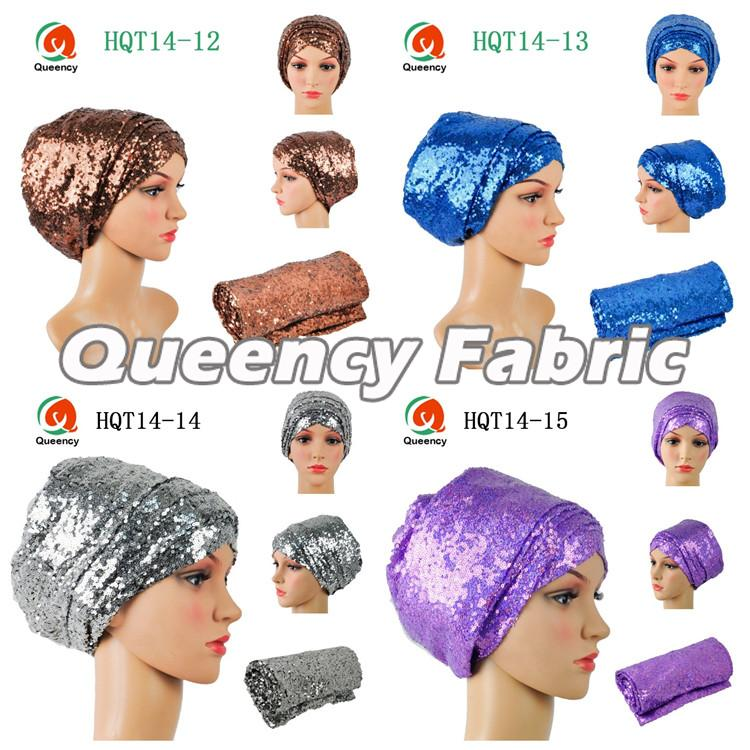 Fashion Turbans Sequins Headtie