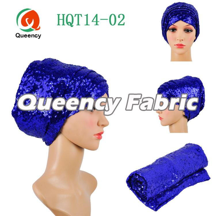 Royal Blue Sequins Headband Turbans