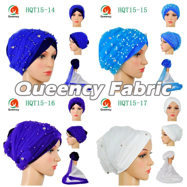 Beaded Net Velvet Turbans