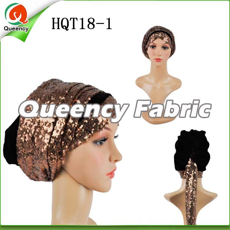 Coffee Sequins Turban