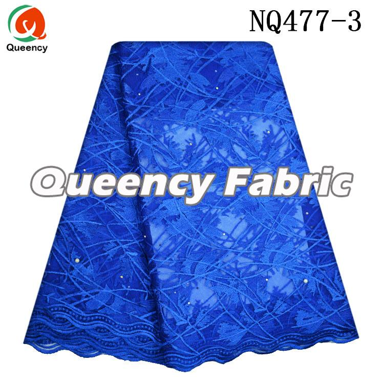 Royal Blue Tulle Fabric Lace