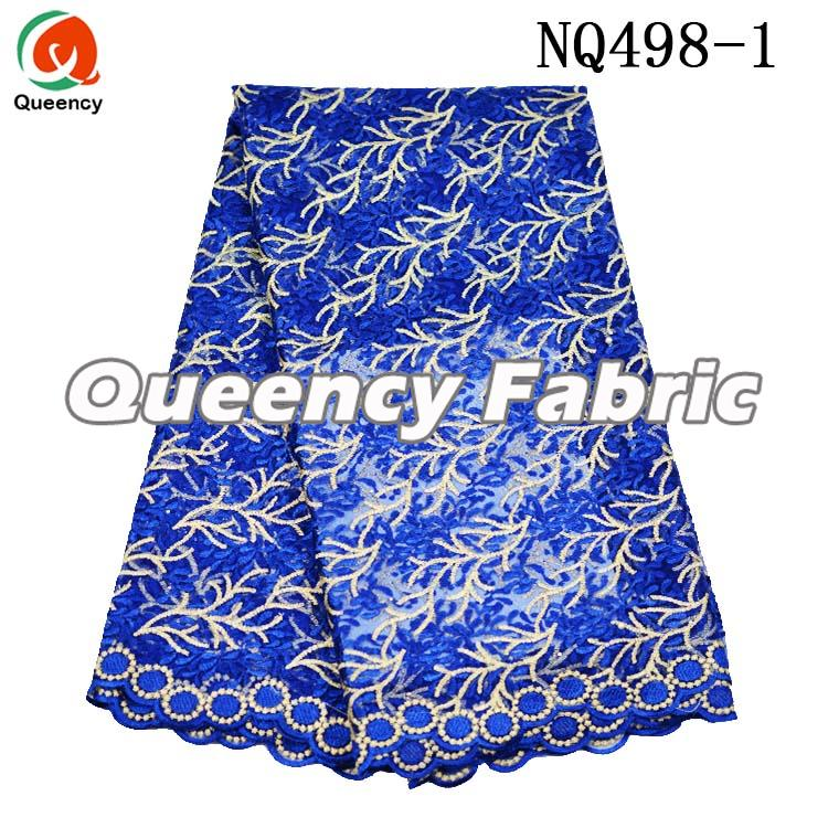 Net Lace Embroidered Fabric