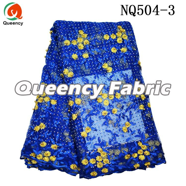 Royal Blue Beaded Lace Dresses Factory