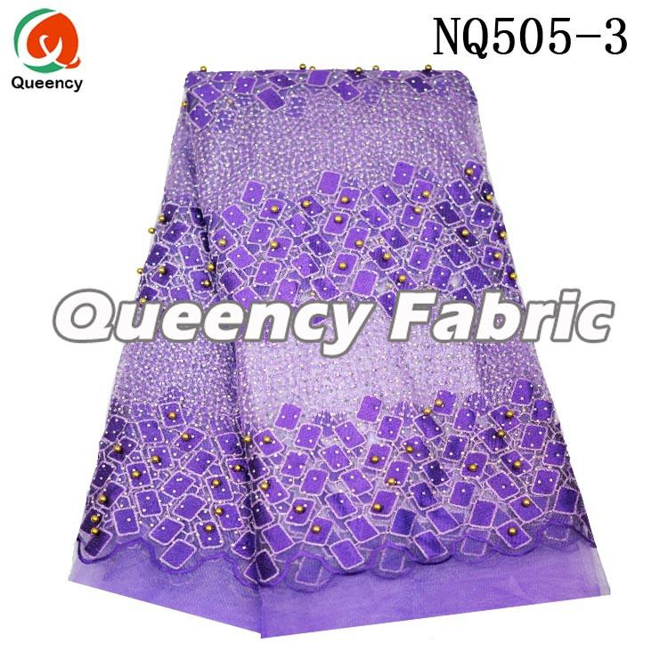 Purple Net Wedding Lace
