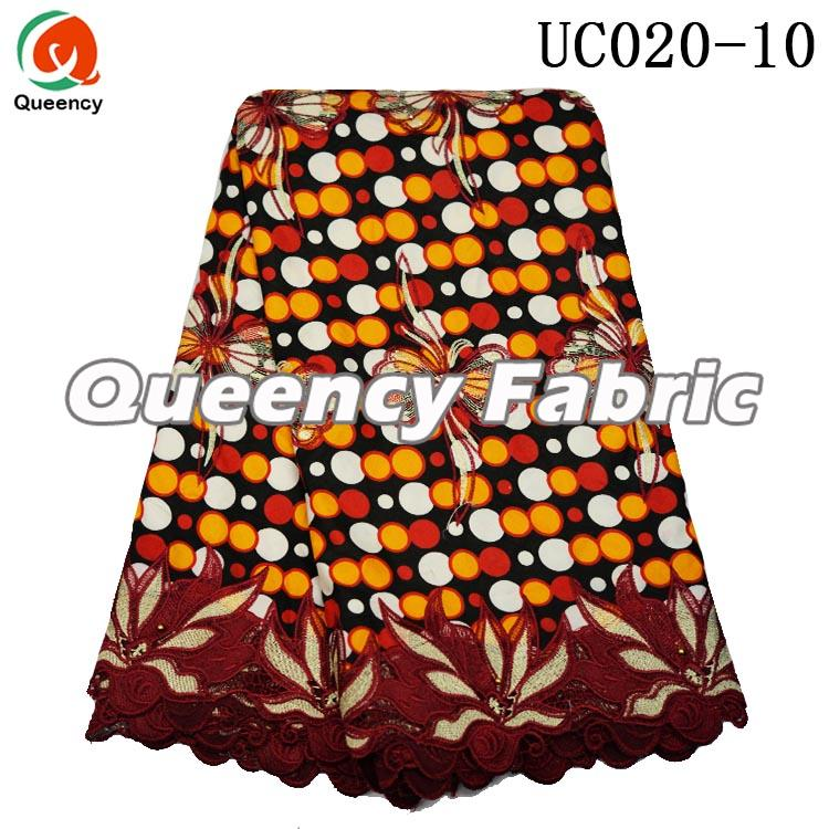 Printed Cotton Lace Dresses Fabric