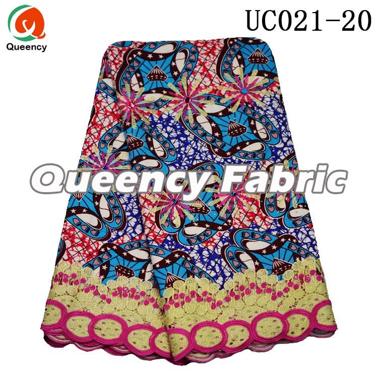 African Ankara Printed Lace Embroidery