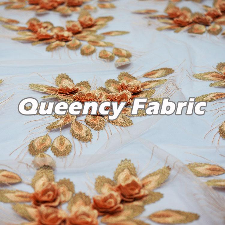 3D Applique Lace French Fabric