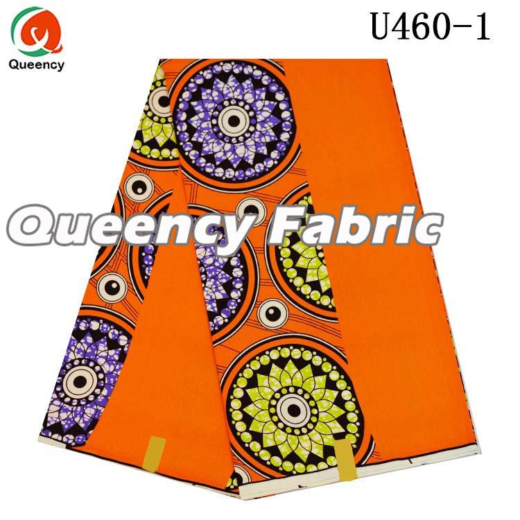 Orange African Wax Fabric