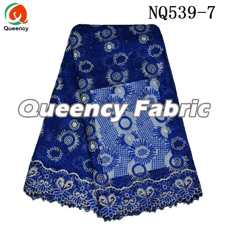 Royal Blue Lace African French Fabric