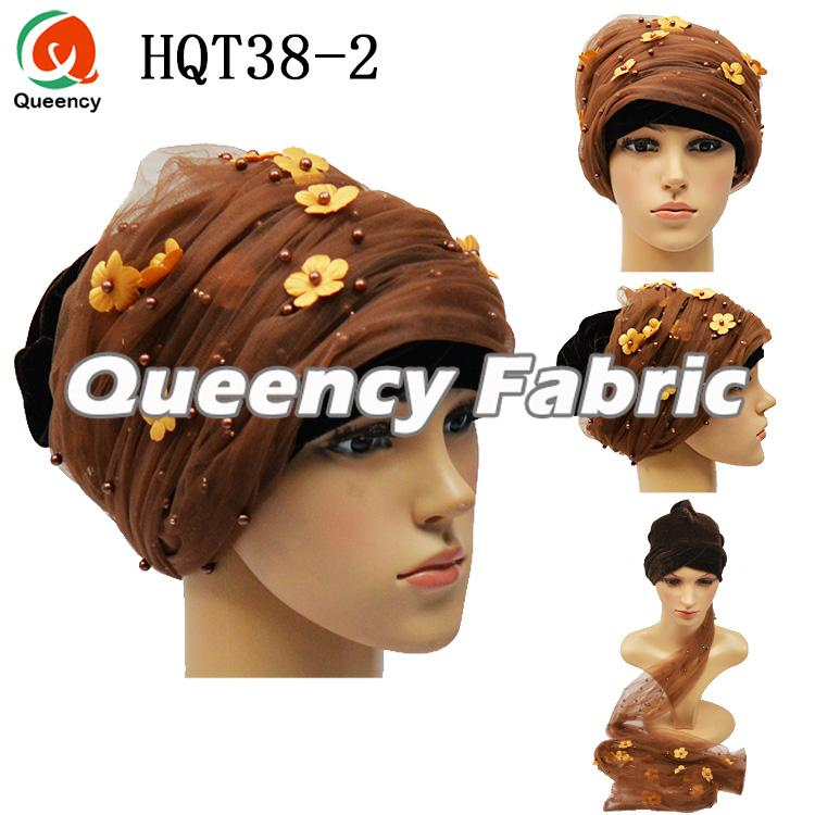 Coffee Net Velvet Turban