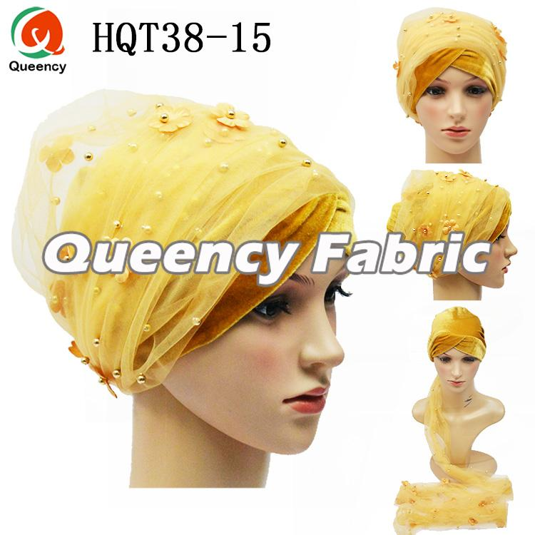 Gold Plain Turban Ladies Hijab