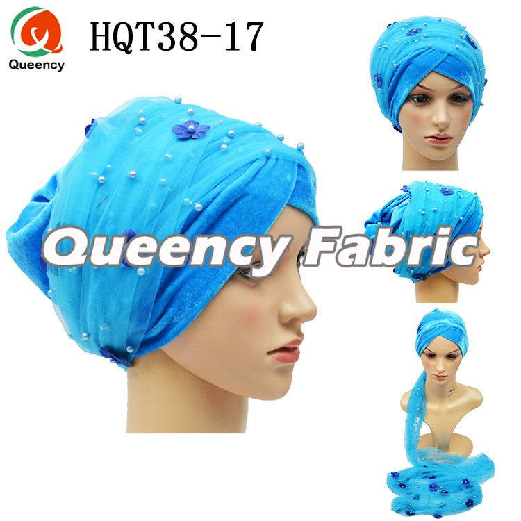 Turquoise Blue Muslim Turban Head Wrap