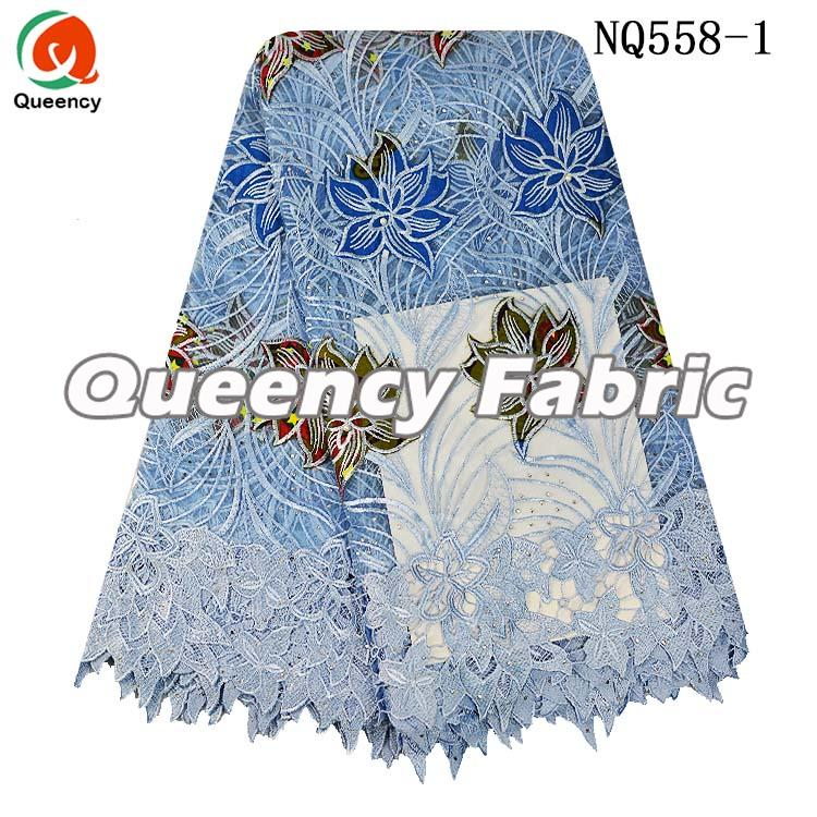 Tulle Lace Flower Embroidered Fabric