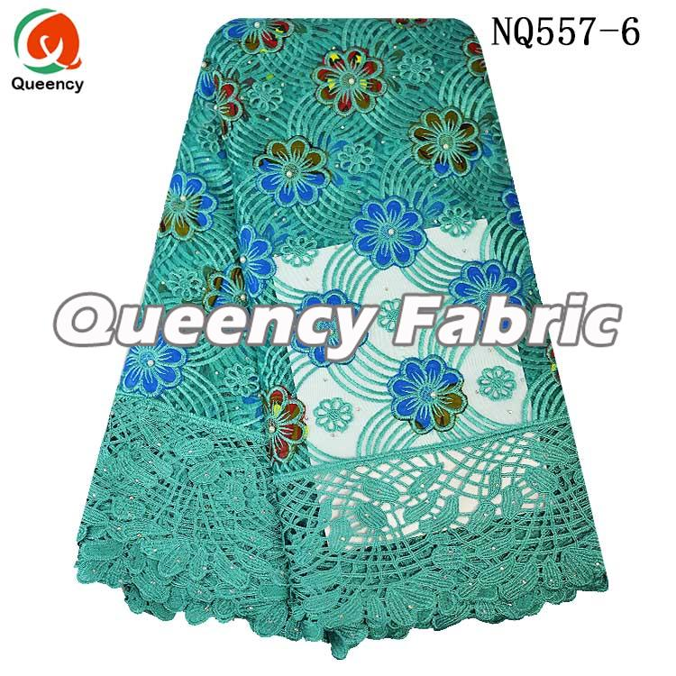 African Tulle Lace French Embroidery Cotton Fabric