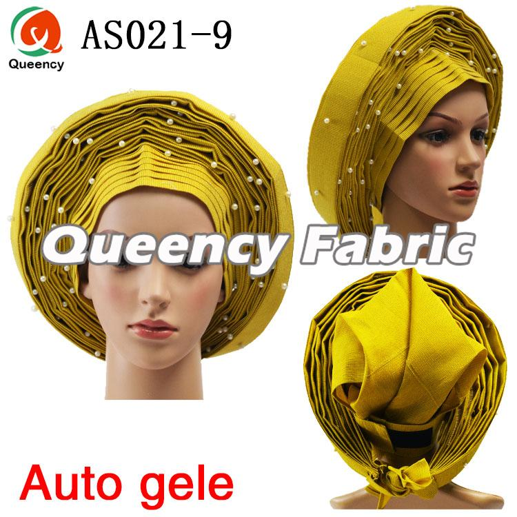 Auto AsoOke Headtie In Yellow