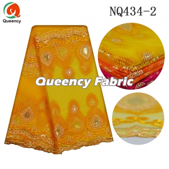 Embroidered Lace Fabric Nigeria Net