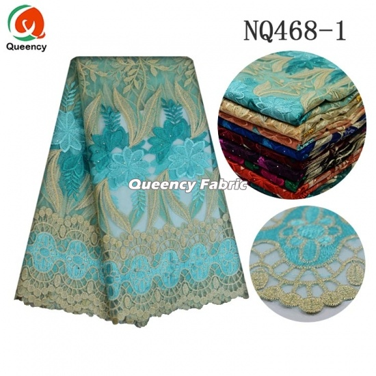 Soft French Nigeria Net Style Beaded Lace