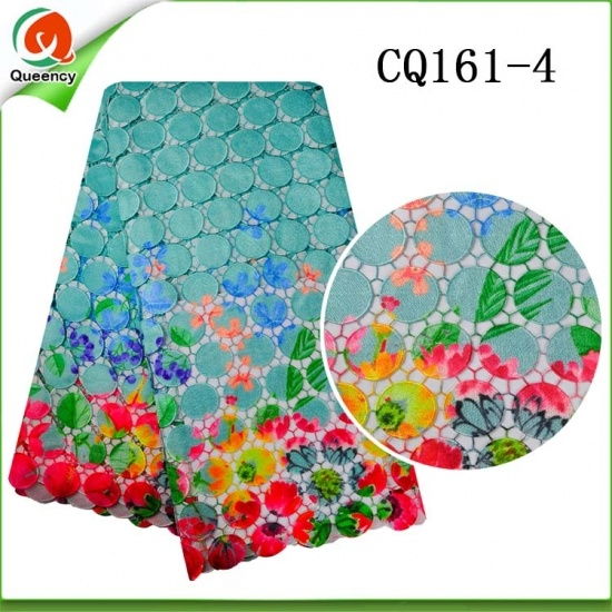 Newest Cupion Farbic Cotton Flower Lace Embroidery