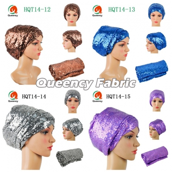 Fashion Ladies Sequins Turbans Plain Headband