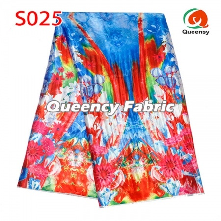 Aso Ebi Ankara Printed Satin Fabric