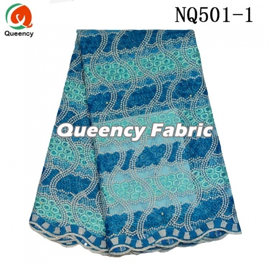 Lowest Net Lace Cotton Embroidered Fabric