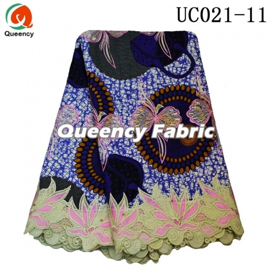 Competitive African Ankara Printed Lace Fabric
