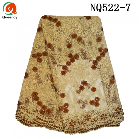 Competitive Lace Cotton Tulle Embroidered Fabric