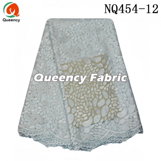 Nigeria Ladies Bridal Tulle Beaded Lace Embroidery