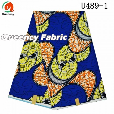 Queency einzigartiges Polyester Ankara Material