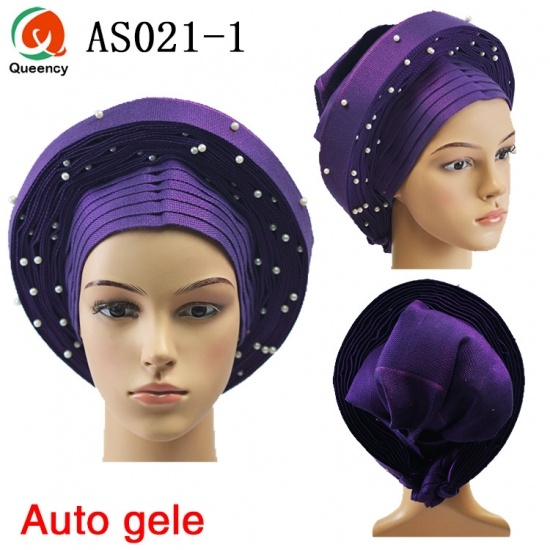 Queency African Auto-Gele Already Made Aso Oke Headtie