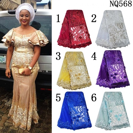 High Quality African Net Embroidery