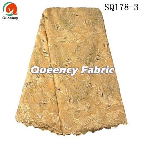 100% Cotton Swiss Voile Lace Fabric