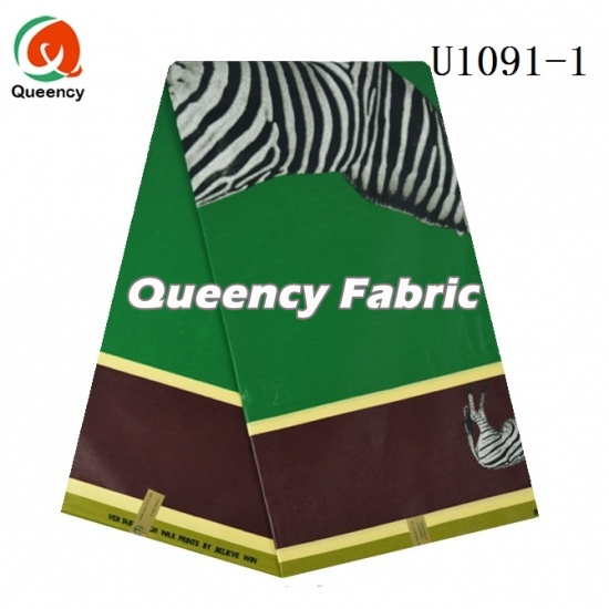 Queency African Cotton Wax Animal Prints DIY Material